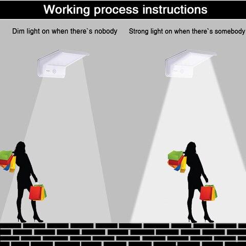 de movimento pir paineis da lampada solar