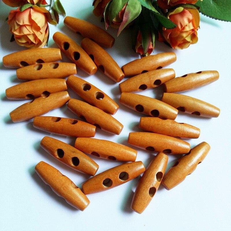 30 шт. 40 мм 2 отверстия деревянные пуговицы для шитья аксессуары оливковая Пряжка большой длинный скрапбук вещевой мешок пальто кнопка