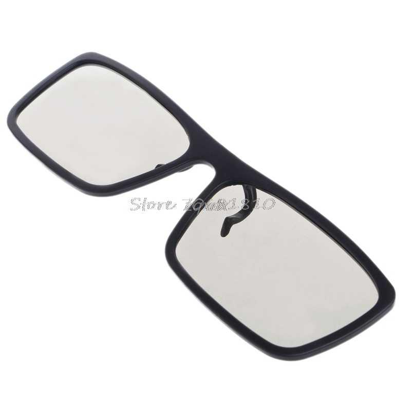Tipo vidros 3d polarizados passivos circulares do clip-on para o cinema 3d real 0.22mm da tevê