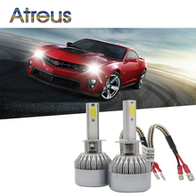 Atreus H1 H3 880 881 Led Car Headlight For Ford focus 2 3 Chevrolet cruze Renault seat 72W Driving Lamp Bulb Automotive Fog lamp
