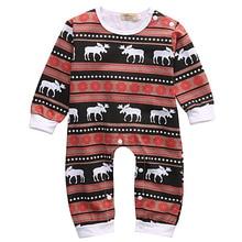 Newborn Infant Baby Girl Boys Romper Deer Sleepwear Christmas Pajamas Outfits Costume