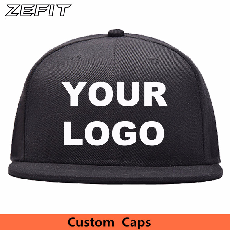 LOGO Custom Embroidery Hats Baseball Snapback Cap Custom Acrylic Cap Adjustable Hip Hop or Fitted Full
