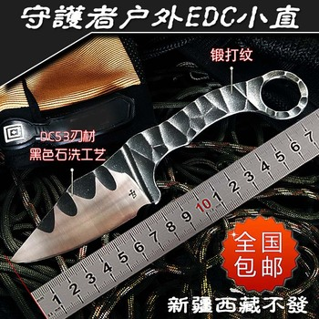 Mad dog tactical knife survival outdoor knives camping tool Integral cold DC53 steel fixed blade best  KYDEX sheath faca