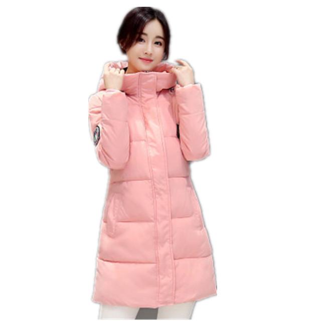 2017 Novas Mulheres Inverno Longo Topcoat Quente Branco Outerwear de Espessura Jaqueta branca Têm Grandes Estaleiros de Moda Casaco Feminino Casaco Acolchoado YY125
