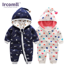Ircomll Top Clothing Sweatshirts Hooded Cotton Rompers 2018