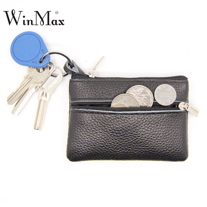Women Real Genuine Leather Wallet Small Leather Coin Purse new Cowhide Zipper Mini Keys chain Card Holder Front Pocket for Women thinkthendo 3 color retro women lady purse zipper small wallet coin key holder case pouch bag new design