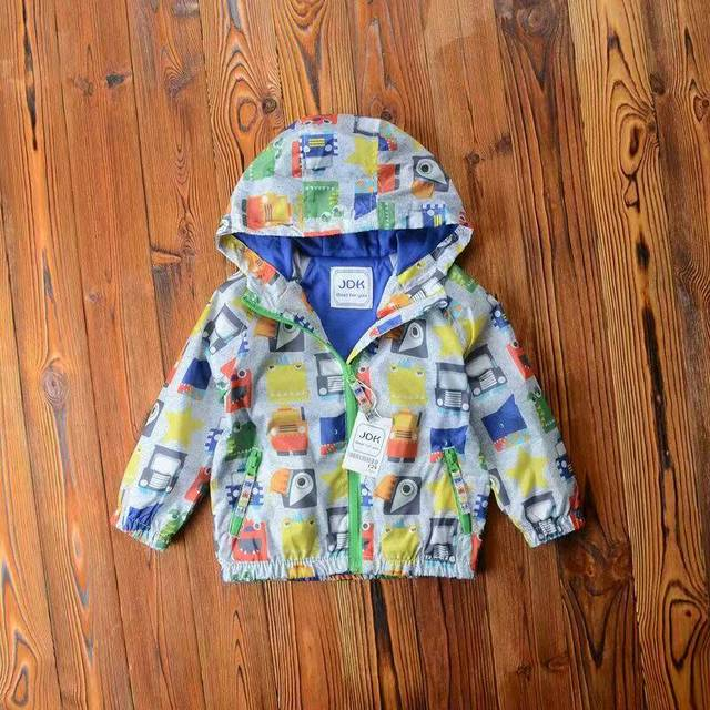 2016 de Otoño de Los Bebés cabritos de la chaqueta Con Cremallera Con Capucha escudo de dibujos animados de Coches al por mayor
