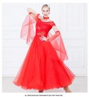Standard Ballroom Dress Women Color Waltz Flamenco Dancing Skirt Adult Cheap Ballroom Competition Dance Dresses D 0126