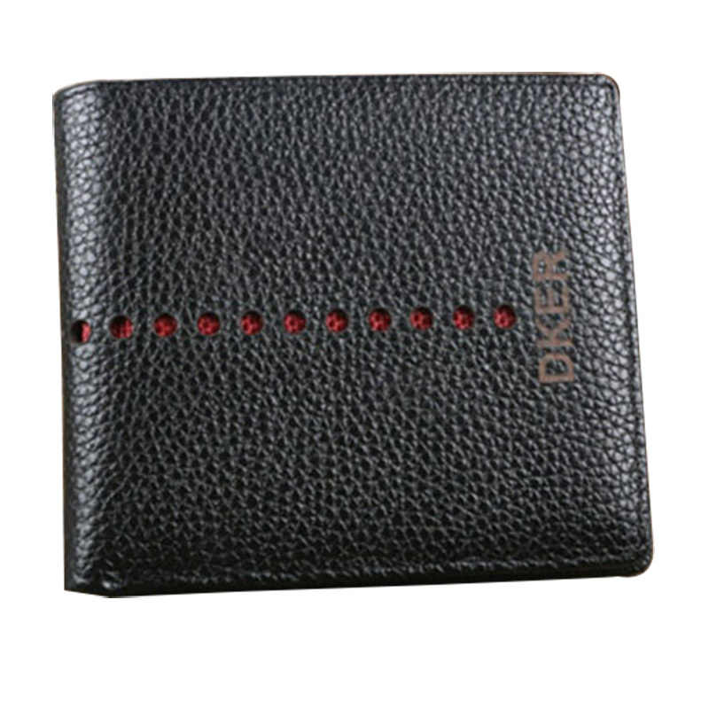 2018 Man wallet genuine leather purse male wallets bifold black wollet card-holders money-clip billetera hombre bogesi