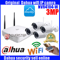 DAHUA 4ch Wifi NVR NVR4104 W System Kit With 4pc Wireless Camera Bullet IP Camera DH