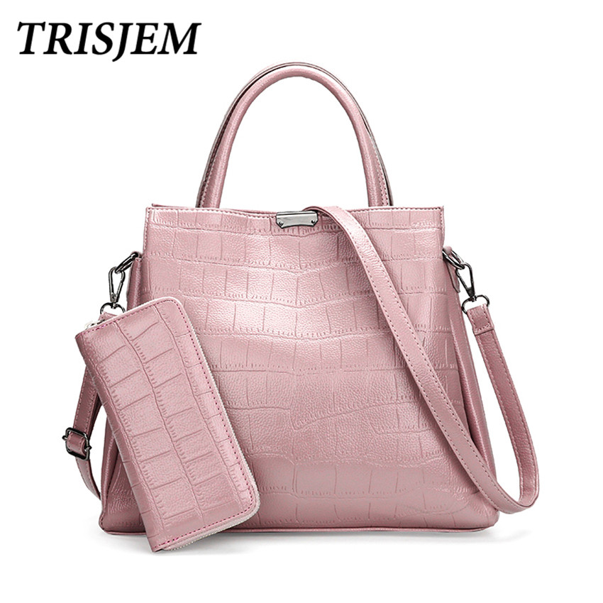 TRISJEM Women Leather Handbags Female Leather Shoulder Bag Women's Tote Bag Handbag Sac a Main Ladies Hand Bag Large Capacity luxury designer women leather bags handbags famous brand shoulder bag ladies large capacity tote bag female handbag sac a main
