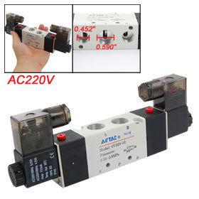 AC220V 2 Position 5 Way Inner Guide Type Solenoid Valve 4V320-10 Free shipping