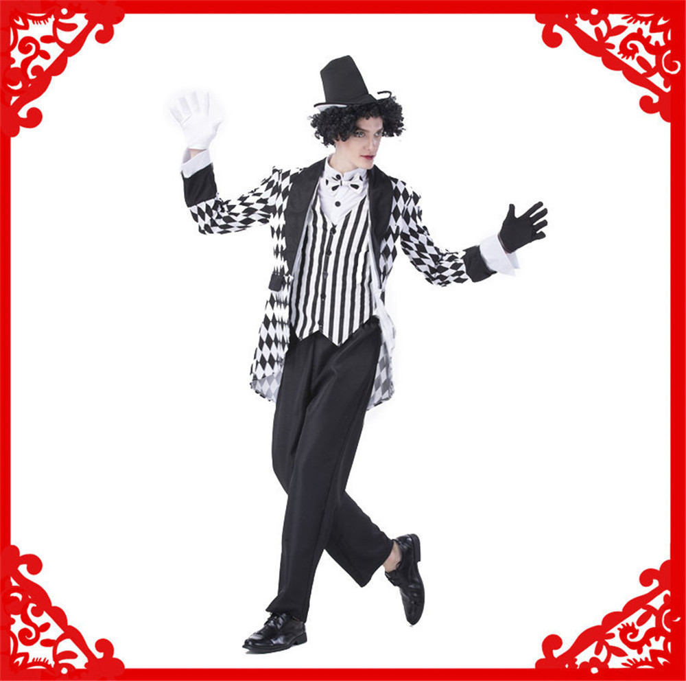 Halloween costume clown circus clown costume carnival costumes funny fun cosplay clown costume & hat for adults