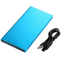 10000mAh Power Bank Universal Ultra Thin Mobile Phone External Battery Power Supply Charger Mobile Phone For