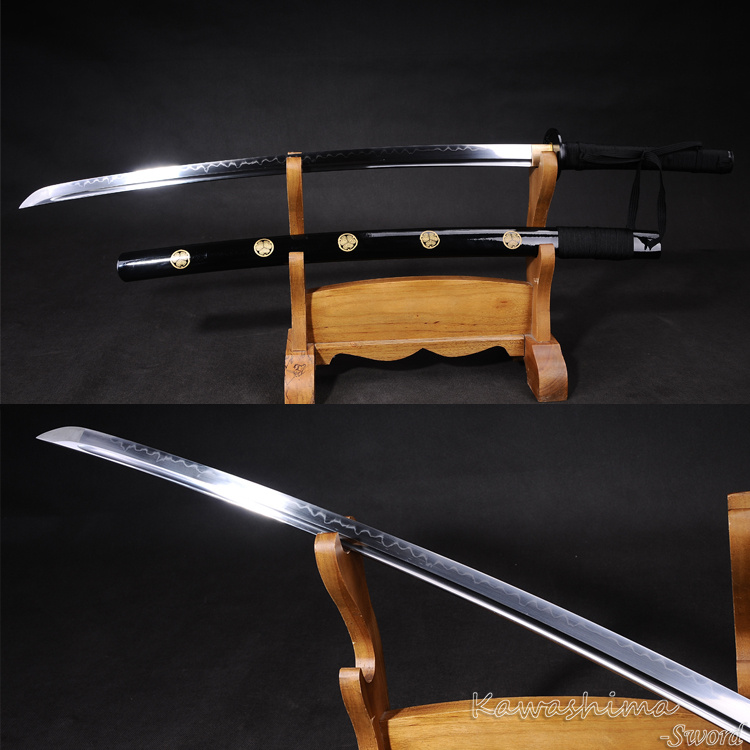 Handmade Full Tang Katana 1095 Steel Clay-Tempered Real Sword For Sale plywood
