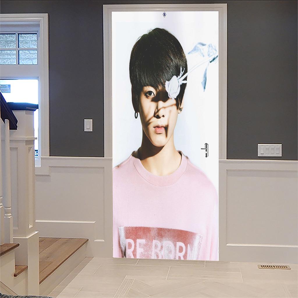 3D PVC Mural Waterproof Poster Self Adhesive Bedroom Decor Door Stickers Landscape Art Wall Decals Imitation Decor