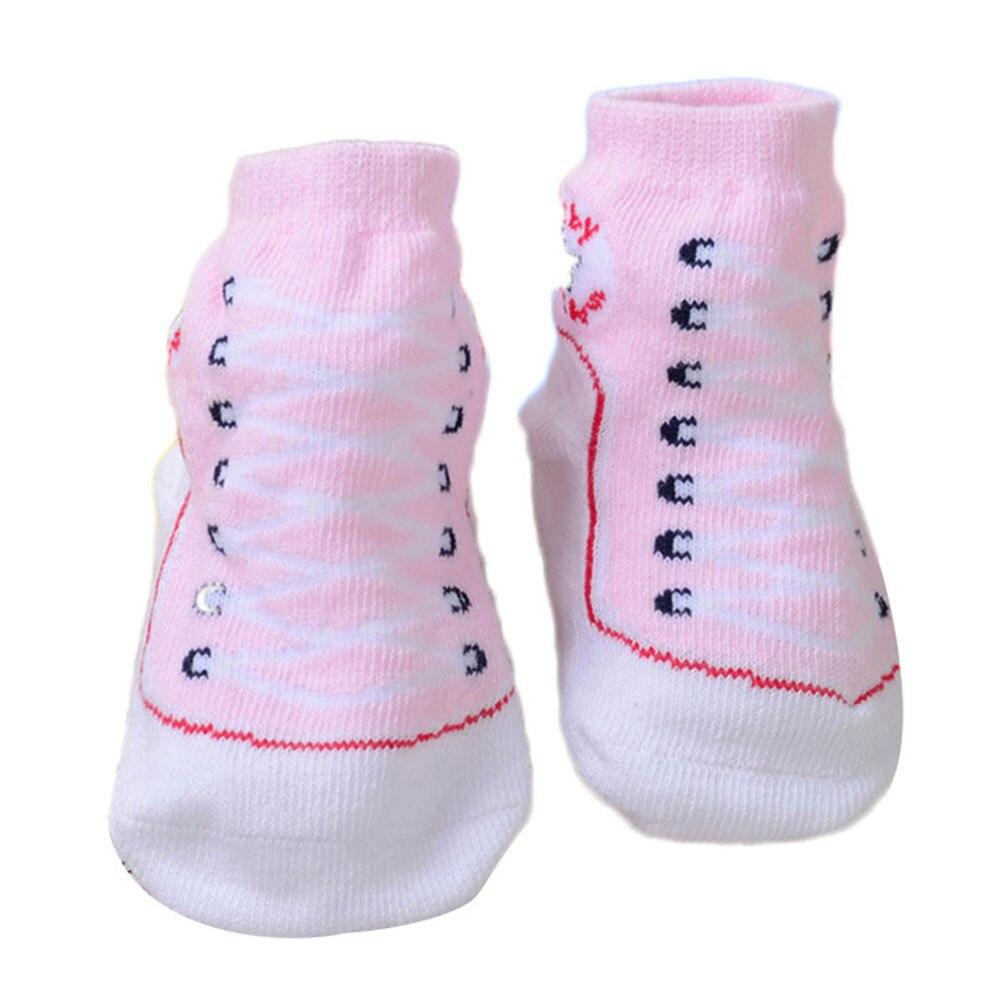 Хлопчатобумажные носочки для младенцев, обувь с 3D рисунком для малышей, яркие, креативные, милые, удобные - Цвет: pink