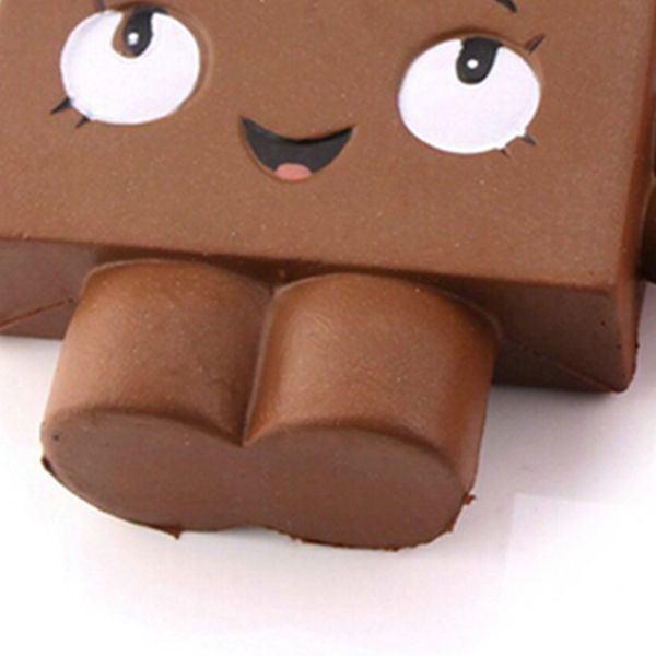 ABWE Best Sale Jumbo Chocolate Squishy Soft Slow Rising Scented Gift Fun Toy Mobile Phone Strapes