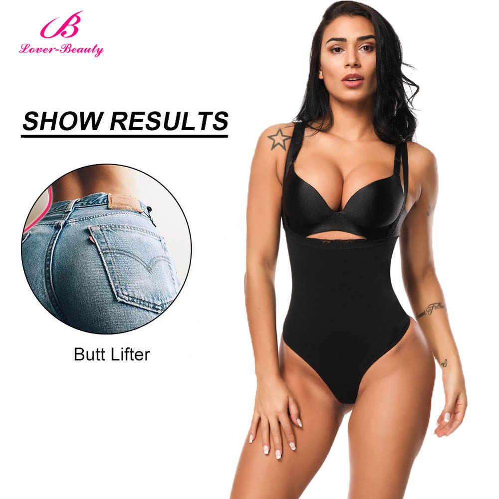 bbd33069f9 ... Lover Beauty Women Full Body Shaper Waist Cincher Underbust Thong  Corset Bodysuit Jumpsuit Shapewear Seamless Pants ...