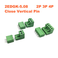 100Sets Pitch 5.08mm 12P Screw Plug in PCB Terminal Block 2EDGK 2EDGVC Straight Pin male/female Pluggable Connector