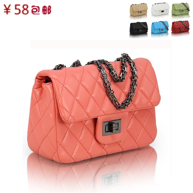 2013 female chain plaid bag fashion vintage shoulder bag messenger bag fashion bags women's