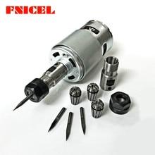 775 двигатель постоянного тока 12-36 в 4000-12000 об/мин шарикоподшипник мотор шпинделя с ER11 Удлинительный стержень резной нож для фрезерного станка с ЧПУ