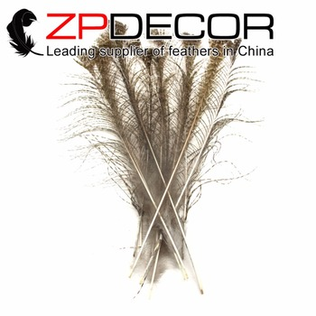 ZPDECOR Natural 35-40cm 100pieces/lot Natural Mine Good Quantity Peacock Wing Quill Feathers for Carnival Costumes Decor