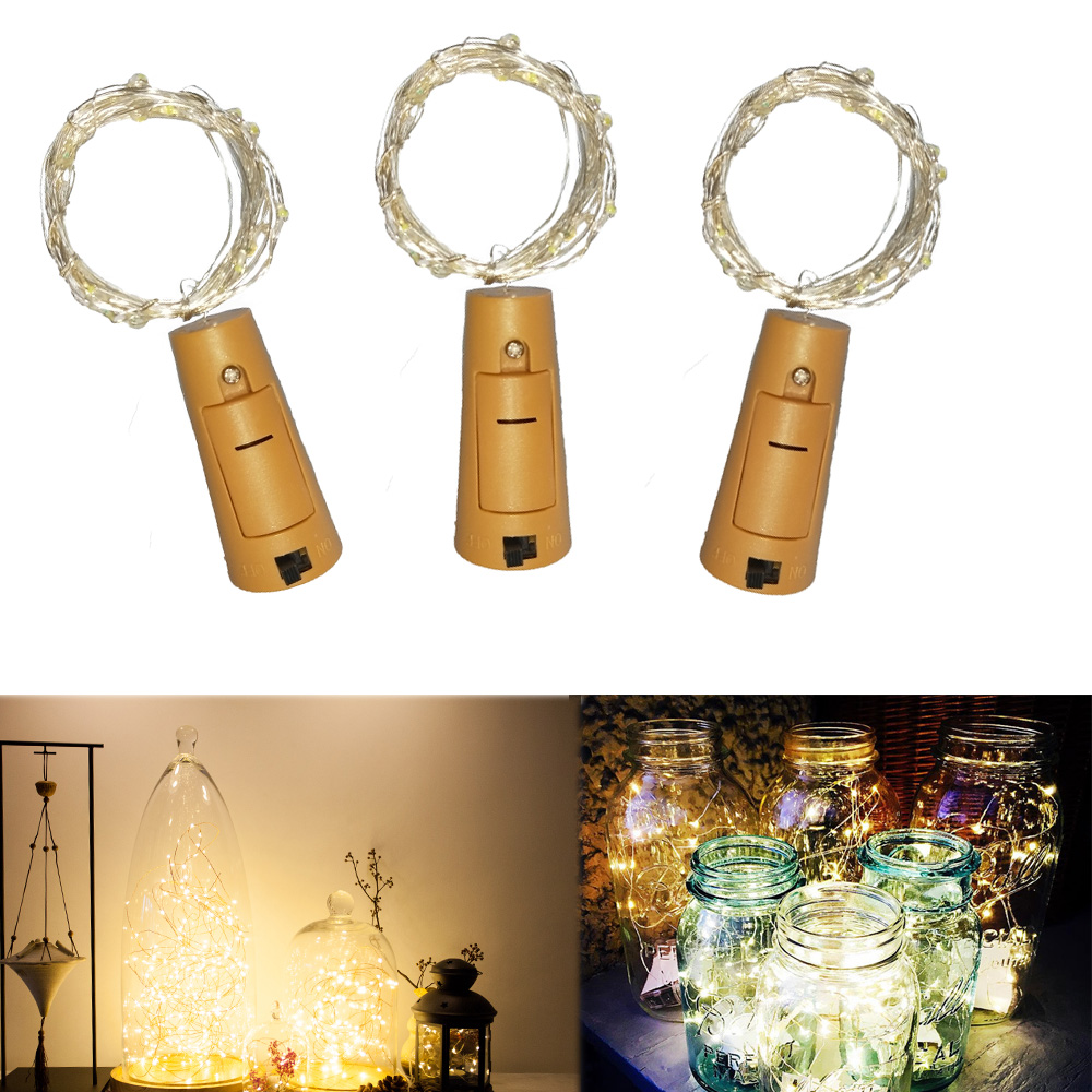 2M String Light Button Battery Operated Cork Shaped Bottle Stopper Light Glass Wine Christmas Garland Light Fairy Xmas Wedding 2M String Light Button Battery Operated Cork Shaped Bottle Stopper Light Glass Wine Christmas Garland Light Fairy Xmas Wedding