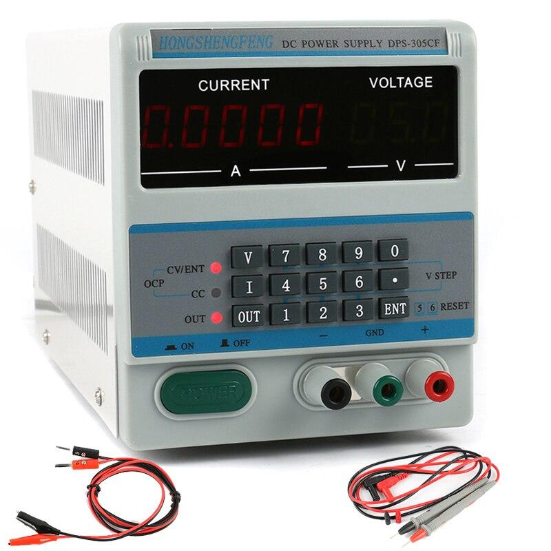 DPS 305CM 305CF 30V 5A DC Digital Control Laboratory Adjustable DC Power Supply 110V 220V 0
