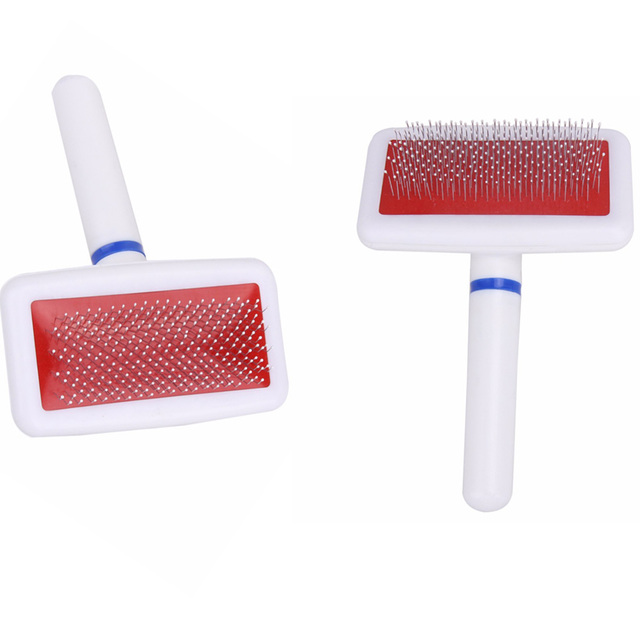 Pet Shedding Grooming Products Dog Hair Brush Comb Plastic Handle Brush Airbag Stainless Steel Pin Comb For Small Dog Cats