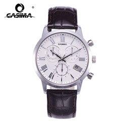 CASIMA Men Fashion Business Luminous Waterproof Leather Watch Band Quartz Men's Watch with Date Chronograph 5120