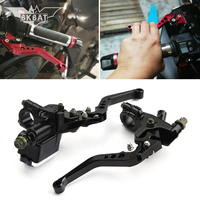 NEW CNC Motocycle Hydraulic Clutch Brake Lever Master Cylinder For cb190r mt 125 ktm 300 exc levier de frein et embrayage moto