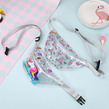 New Flamingo Womens Pocket Fashion Transparent PVC Girls Sports Shoulder Diagonal Waterproof Bag