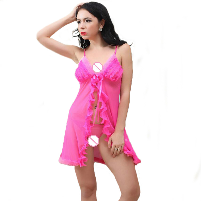 2018 Women sexy lingerie hot big size nightgown mini babydoll for sex baby doll erotic appeal dress sexy underwear sexy costumes