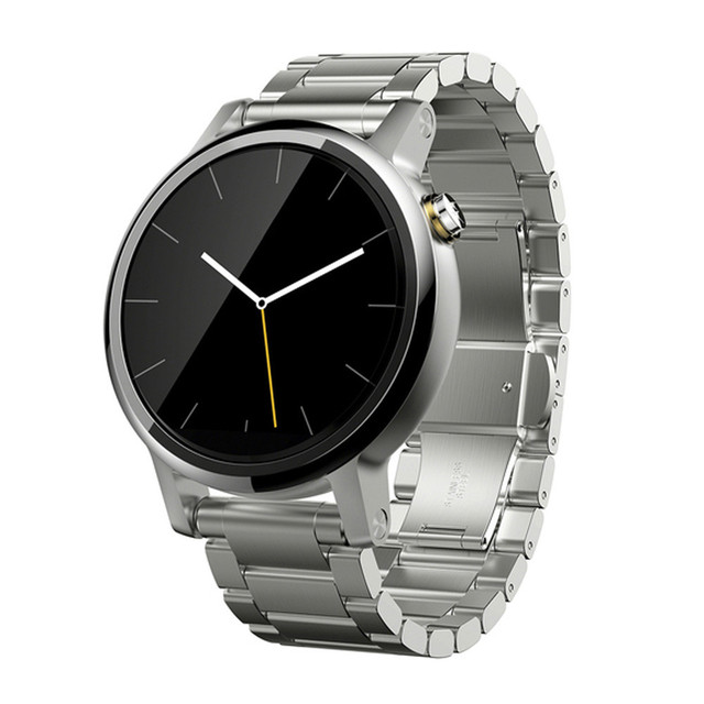 Bandas pulseira relógio banda de aço inoxidável de qualidade para motorola moto 360 2nd 46 milímetros butterfly clasp moda projeto 2017 venda quente