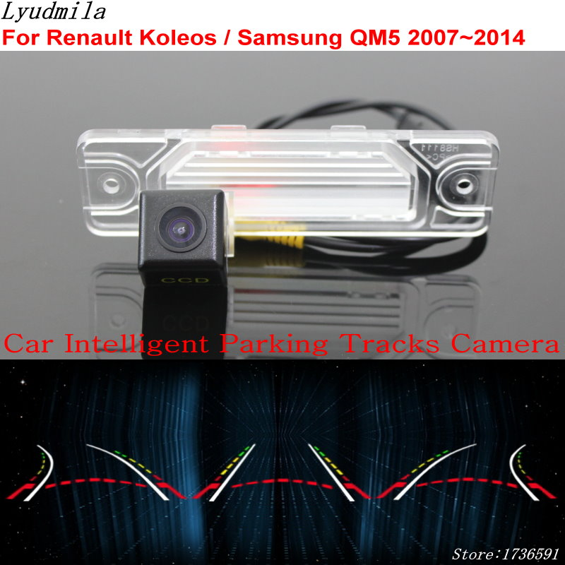 Lyudmila Car Intelligent Parking Tracks Camera FOR Renault Koleos / Samsung QM5 2007~2014 Back Up Reverse Rear View Camera