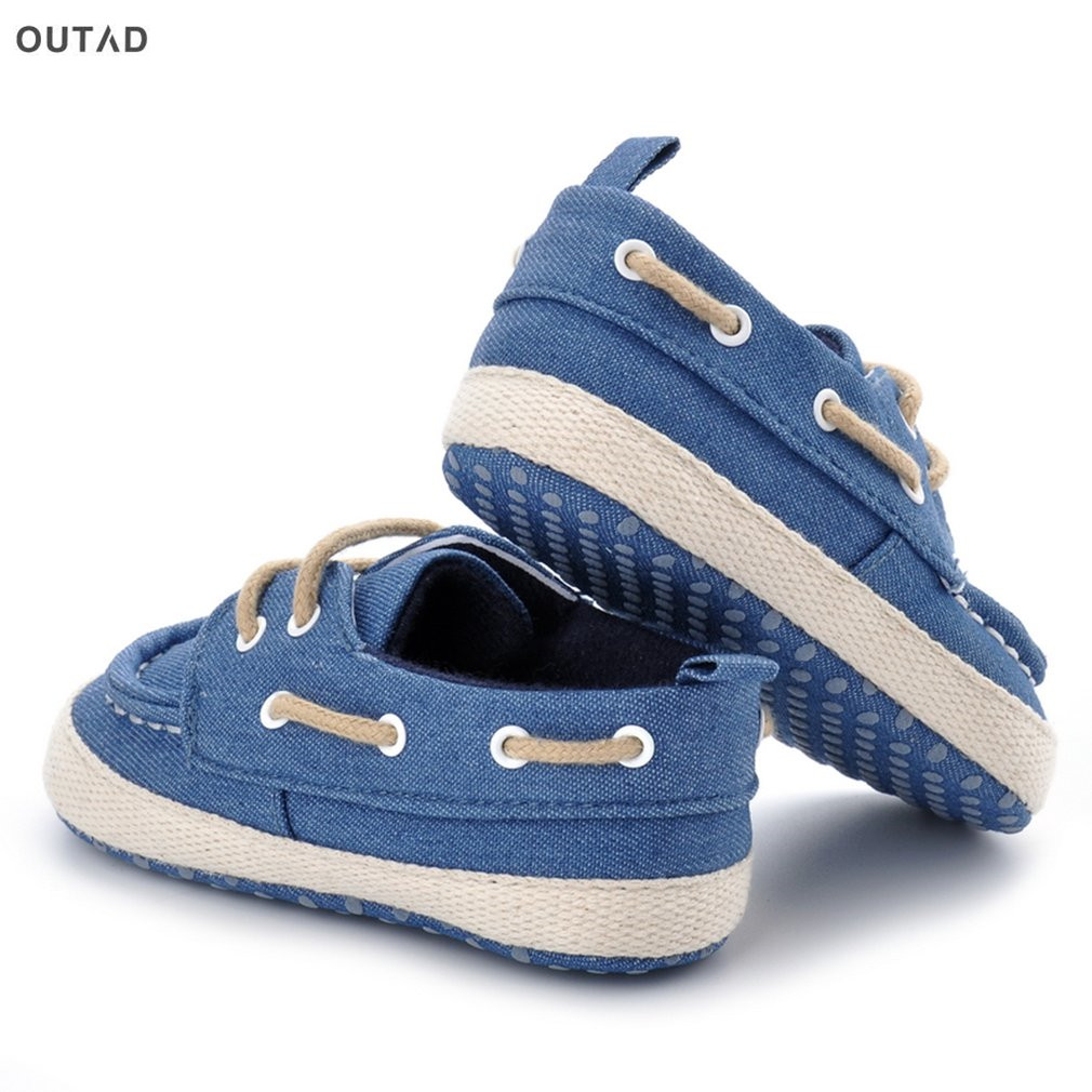 OUTAD New Baby First Walkers Shoes Breathable Shoes Lace-up Flat Shoes Infant Toddler Soft Bottom Soled Boots For Newborn Baby