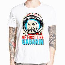 CCCP URSS Gagarin camiseta nuevo diseño nuevo manga corta Camiseta impresa  de los hombres verano fresco o-cuello hombres ropa HC. cd7d0afc61d