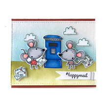 Mouse Mail Transparent Clear Silicone Stamp Set