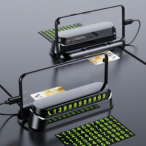 Luminous Car Temporary Parking Card Car Sticker Car Air Freshener Phone Number Card Plate Car Accessories Universal Car Stickers