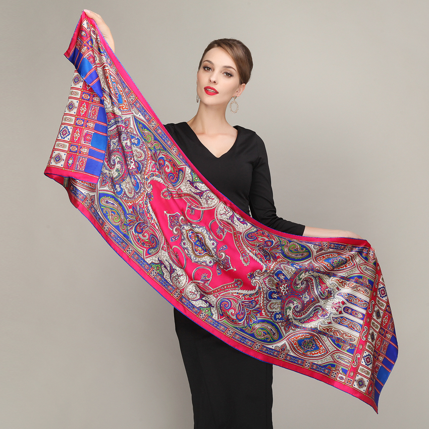 Cachecois Ladies Pure Silk Long Scarf 2015 New Brand 100