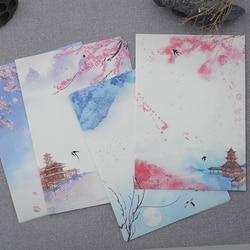 8 Teile/los Schöne Retro Klassische poesie abbildung Saison Pflanzen Blumen Malerei Briefpapier-schreibpapier Brief Schreibwaren