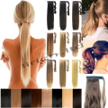 "Lady 120g Wrap Around Ponytail real thick Clip in Hair Extensions 24"" Straight 10 Colors Available Free Fast Ship"