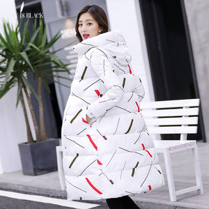 Image 2 - PinkyIsBlack 2019 new thicken wadded jacket outerwear winter jacket women coat long parkas cotton padded hooded jacket and coat