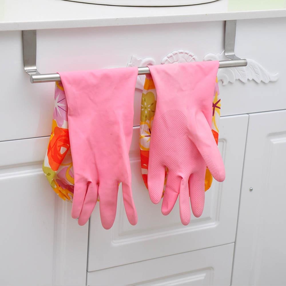 Towel rack kitchen cabinet - Hot Sale Door Towel Rack Bar Hanging Holder Bathroom Kitchen Cabinet Shelf Rack Storage Hook Holder