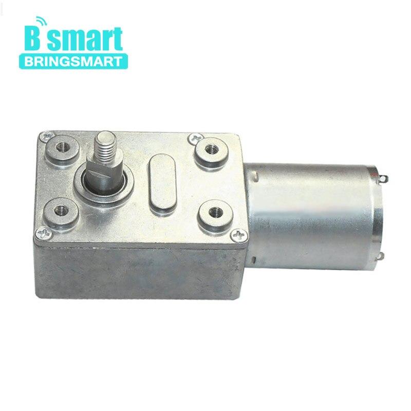 Bringsmart JGY370 DC Worm Gear Motor 6V 12V 24V Mini Engine 8mm Output Shaft M5 Screw Double Flat Bit Specific for Range Hood