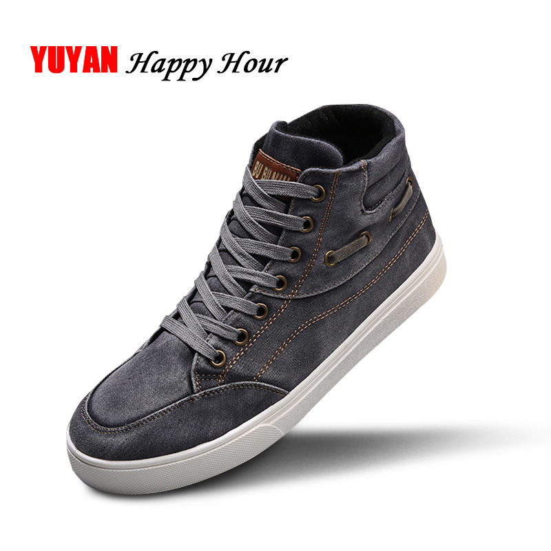 Fashion Sneakers Men Denim Shoes Cool Street Canvas Shoes Men's Casual Shoes Man Brand Sneakers A304