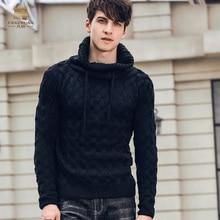 Fanzhuan Free Shipping New fashion 2018 men's male autumn winter Lapel high collar personality twist jacquard sweater 825176