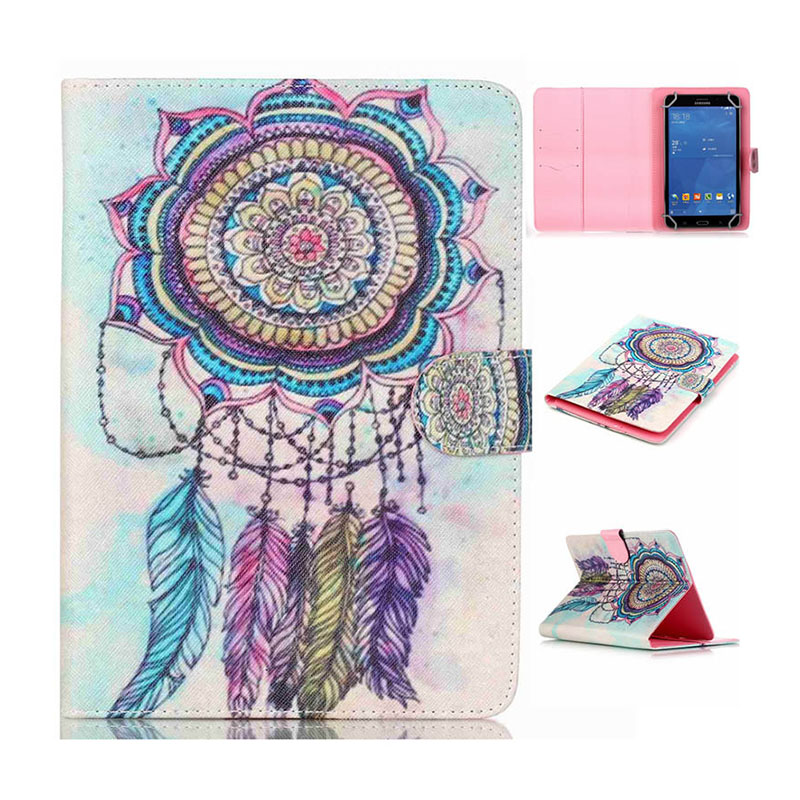 """8"""" Universal Tablet PU Leather Case For Sony Xperia Z3 Compact 8.0 inch Tablet cover Printed Stand cases Y4D69D"""