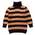 QUIKGROW Baby Sweater Girl Turtleneck Jumper Winter Warm Crochet Knitting Clothes High Roll Neck Black&Brown Tops NY04MY